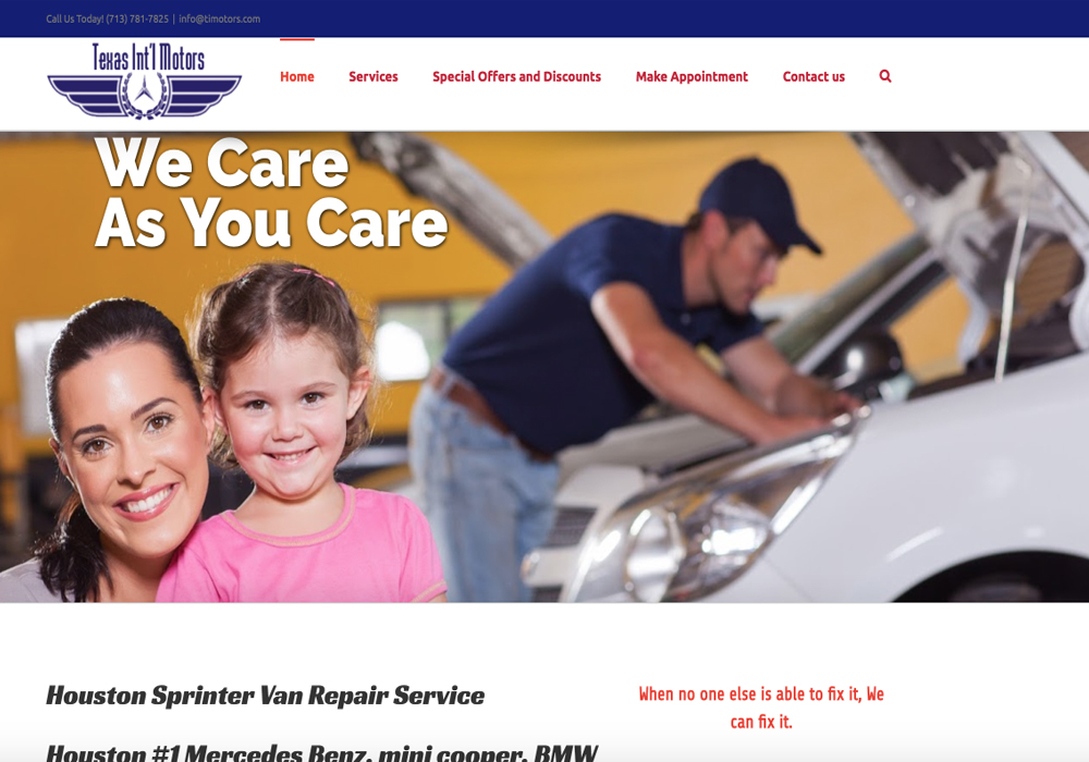 Auto Mechanic Shop Web Design