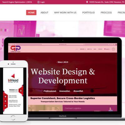 trihead website page