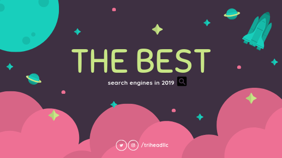 The best search engines in 2019.